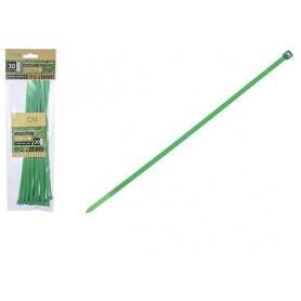 30 Câbles Liens Attache Serre-Plantes 25cm + Boucle en Plastique Vert Jardin Potager
