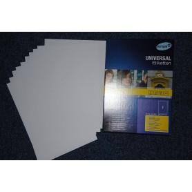 10 Feuilles Autocollante Papier Etiquette A4 21 x 29,7 cm 210x297 mm Feuille