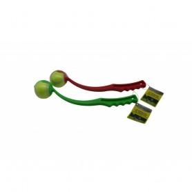 Jouet pour Chien Lanceur de Balles 38 cm + 1 Balle Catapulte jusqu'à 50 mètres