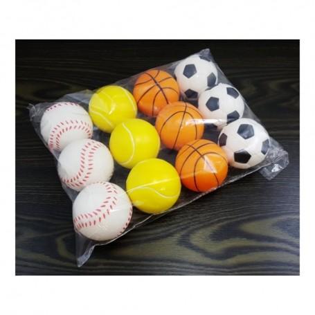Boule Anti Stress Ballon Foot Basket Baseball Tennis Détente Relaxation Rééducation