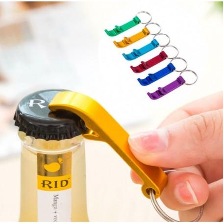 Porte-Clé Décapsuleur à Bière Ouvre Bouteille Bar en Aluminium 6 Couleurs