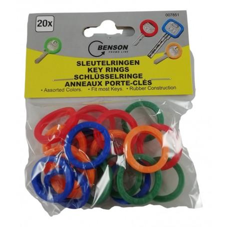 20X Anneaux de Protection Identificateurs Clés Housse Silicone Clés 4 couleurs