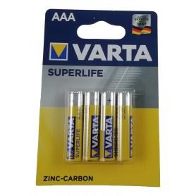 4 Piles AAA LR3 R03 VARTA Superlife 1,5V Zinc Carbon Batterie Longue Durée