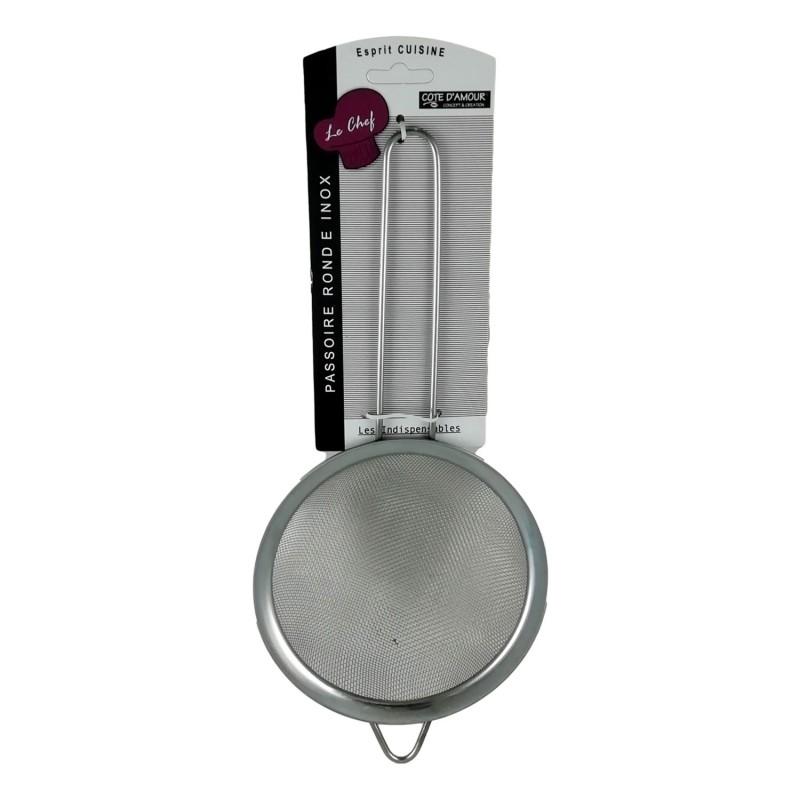 Tamis de Cuisine en Métal 13,5 cm à Farine Thé Huile Sucre Passoire Maille Filtre
