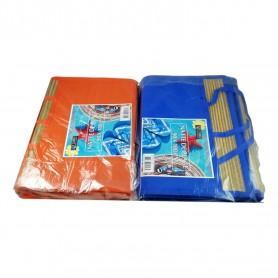 Natte de plage 90 x 180 cm couleurs au choix bleu ou orange