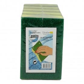 Lot de 5 X éponges avec grattoir 11x6,5x3cm éponge pour vaisselle nettoyage