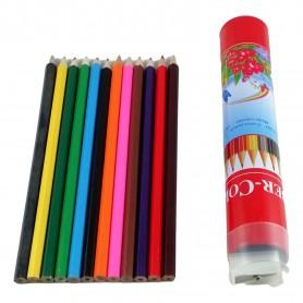Lot de 12 crayons de couleur + taille crayon pour dessin coloriage