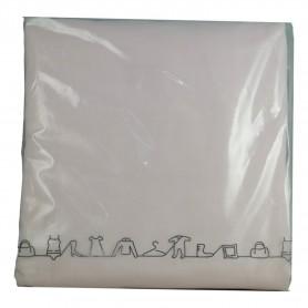 Parure de lit couette rose clair 220 x 240 cm + 2 taies oreiller 100% coton 3pcs