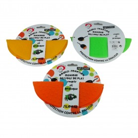 Lot 2 X Dessous de plat souple et manique en silicone 22x17,5 cm 3 couleurs