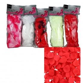 Lot de 300 X pétales de rose en tissu rouge rose blanc jaune