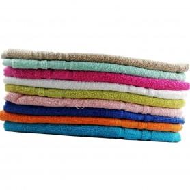 Lot 2X Serviette Drap ou Tapis de bain 100% Coton 50 x 70 cm 450gr/m2 8 couleurs