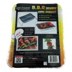 Lot 2X Barbecue grill avec support réutilisable BBQ viande poisson poulet