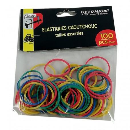 Lot 20-100X élastiques Caoutchouc Elastique coloré Cheveux Assortiment Tailles