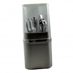 Kit Manucure 5pcs Pince à Epiler Ciseaux Coupe Ongles Lime Ongle Brosse Cils