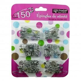Lot de 150 X Epingle à Nourrice et de sûreté 28 à 50 mm Couture Mercerie Broche