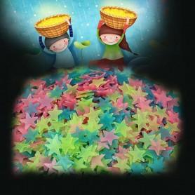 50-100 stickers étoiles muraux plafonds autocollants fluo brillent dans le noir