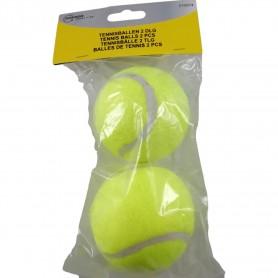 2 Balles de Tennis Jaunes 6,40 cm Toutes Surfaces Sport de Raquette
