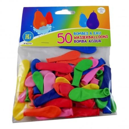 50 Ballons Multicolores pour Bombe à Eau Gonflable Bataille d'Eau