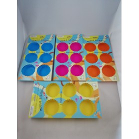 Moule à Tartelette x6 Cases Tartelettes en Silicone Souple 4 couleurs 29x17,5cm