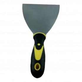 Couteau Spatule à Enduit Plâtre Mastic 21 x 10 cm Manche Caoutchouc Grattoir