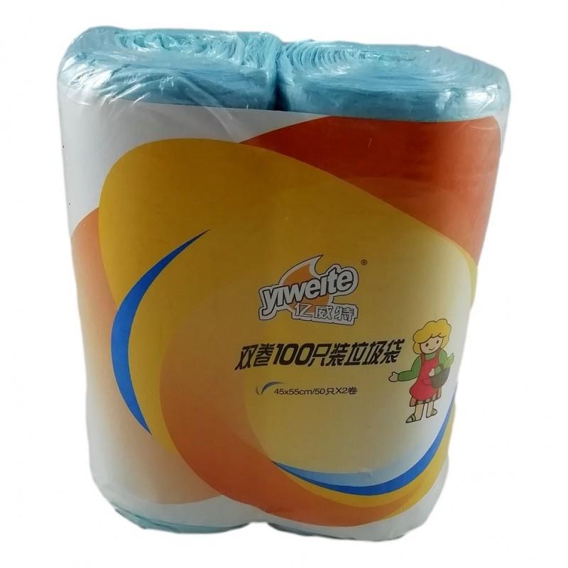 Lot de 200 X Sac Poubelle Bleu 20 L 45 x 55 cm pour Corbeille Papier WC SDB