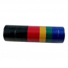 Lot de 20 Rouleaux de Ruban Adhésif Isolant électrique PVC 2,5 Mètres x 17 mm