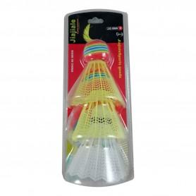 3 Volants de Badminton Multicolores en Plastique Sport de Raquettes