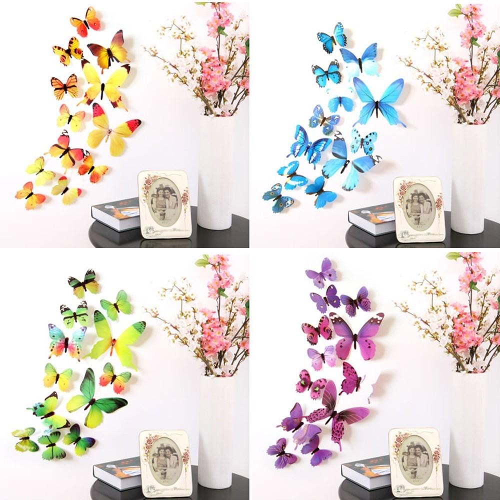 Stickers Muraux Chambre Bébé 12 pcs 3d papillon stickers muraux papillons décoration