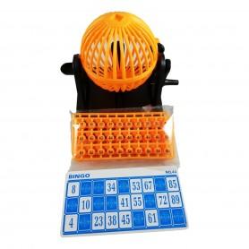 Jeu de Loto Bingo 90 Numéros avec Sphère Mélangeur + Comptoir + 12 Cartons
