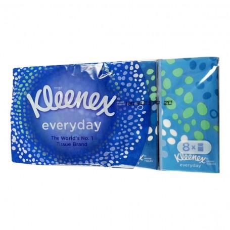 8 Paquets Etuis de 9 Mouchoirs Kleenex Doux et Résistants Hygiène Nasale