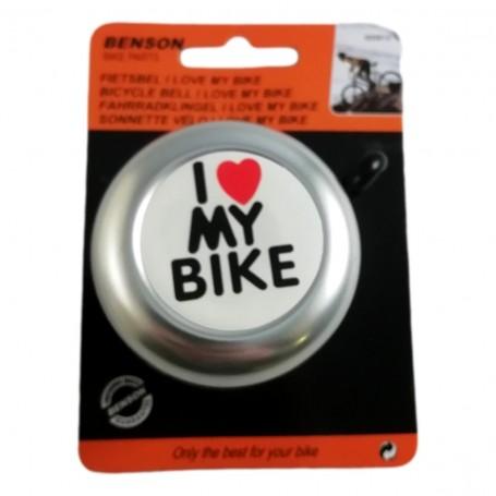 Clochette Sonnette Vélo I Love My Bike Klaxon Alarme Sonore VTT VTC Universelle