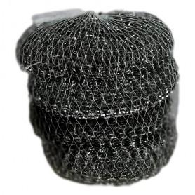 4X éponge Grattante en Acier Tampon Grattoir à Récurer Paille de Fer 10cm