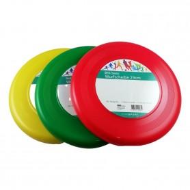 Frisbee en Plastique 23 cm Jouet pour Enfant Adulte Plage Couleur au Choix