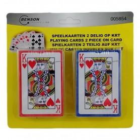 Lot de 2 Paquets de 54 Cartes à Jouer Jeu Poker Bridge Rami Bataille