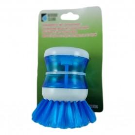Brosse à Vaisselle 9cm avec Distributeur Réservoir Liquide Doseur 2 Couleurs