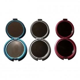 Miroir de Poche Double Rond 7,5 cm avec Clapet 3 Couleurs Rouge Bleu Argent
