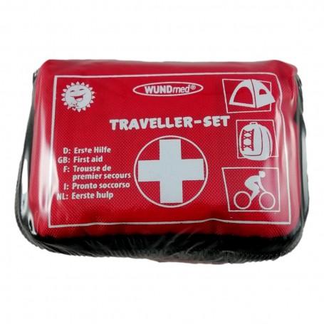 32pcs Trousse de Premiers Secours Soins PM Rouge First Aid Kit Camping Rando
