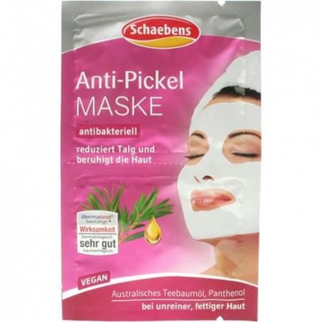 2 X Masque de Visage Anti Acné Boutons Huile Arbre de Thé Tea Tree et Panthénol