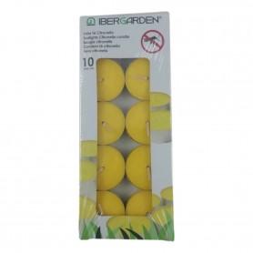 10 Bougies Chauffe Plat à la Citronnelle Anti Moustique Répulsif Naturel 4H