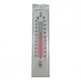 2X Thermomètre Extérieur Blanc Température -50 à +50°C Piscine Jardin Serre °F