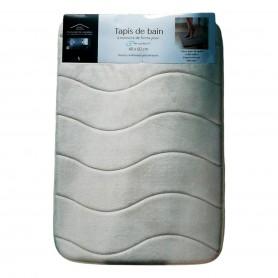 Tapis de bain à mémoire de forme 40 x 60 cm anti-dérapant et moelleux 4 couleurs