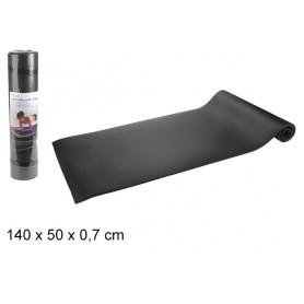 Tapis de Yoga Sport Souple Fitness Gymnastique Pilate Noir 140 x 50 x 0,7 cm