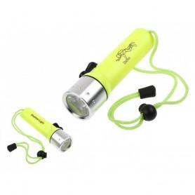 Torche de Plongée LED 3W 120Lm Lampe étanche 50 Mètres Lumière sous l'eau