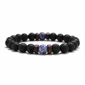 Bracelet de Guérison Pierre De Lave Lithothérapie Yoga Reiki Magnétisme 1 perle
