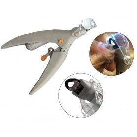 Paire de Ciseaux Coupe Griffe avec LED Toilettage Chat Chien Animal Coupe-Ongles