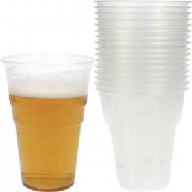 Lot 50 Gobelets à Bière 400ml Verre Plastique Fête Party Petite Pinte Beer Pong