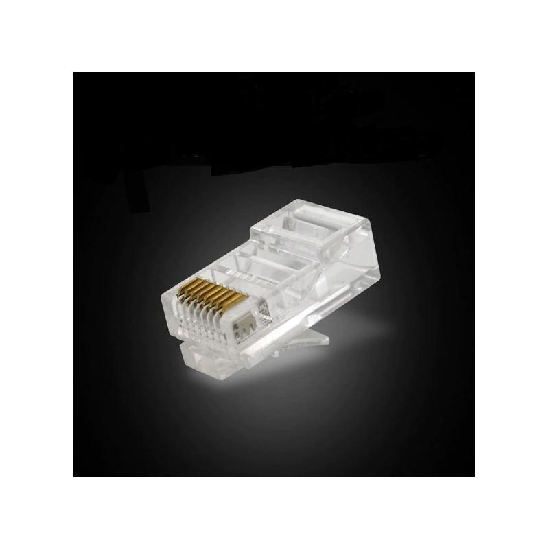 Lot 1 à 100 fiches RJ45 tête a sertir Connecteur réseau LAN Prise Ethernet Embout
