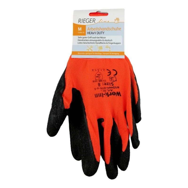 Paire de Gants Travail Bricolage Certifiés CE Head Duty Oranges Tailles M L XL XXL