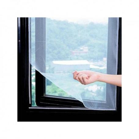 Moustiquaire Fenêtre Blanche 180 x 150 cm Amovible Fixation Simple Facile Scratch