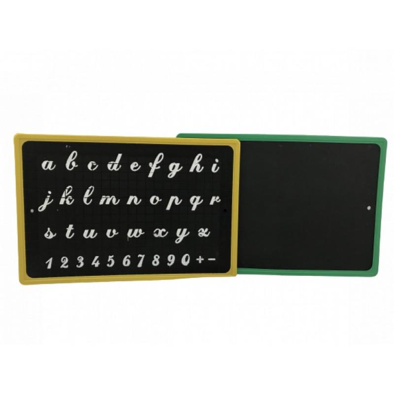 Tableau Effaçable Type Ardoise à Craie avec Alphabet Apprentissage 24 x 17 cm